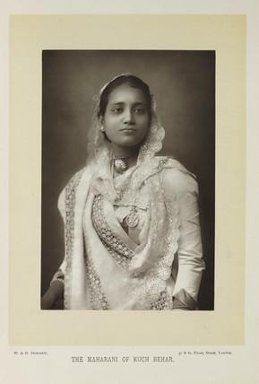 'The Maharani of Kuch Behar', 1893.