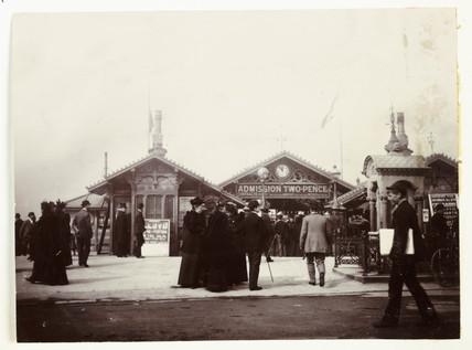 Entrance to Southport Pier, Lancashire, c 1895.