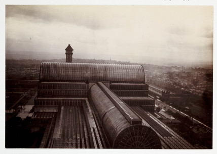 Roof of the Crystal Palace, c 1900.