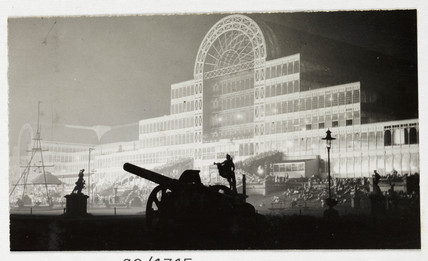 Crystal Palace at night, c 1930.