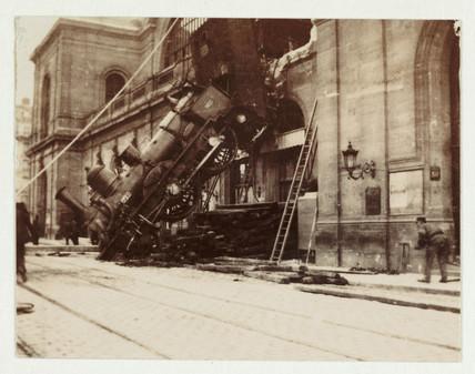 Accident at Montparnasse, Paris, 1895.