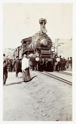 Steam train on the Russian State Railway, c 1920.