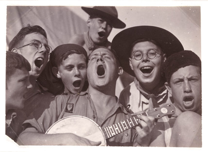 Singing scouts, c 1930.