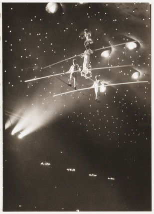 Tightrope walkers, c 1930.