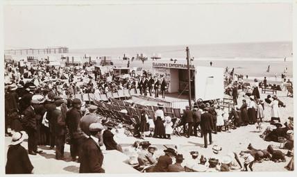 Ellison's beach entertainers, c 1910.