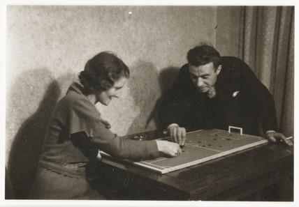 Table football, c 1930.
