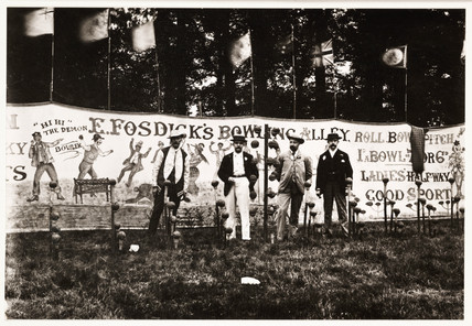F Fosdick's Bowling Alley, c 1900.