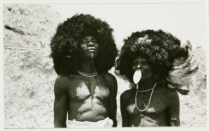 Two African tribesmen, c 1925.