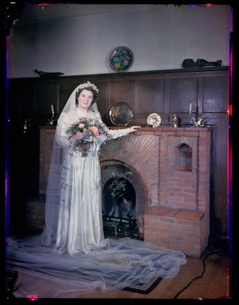 'Bride in gown', c 1944.
