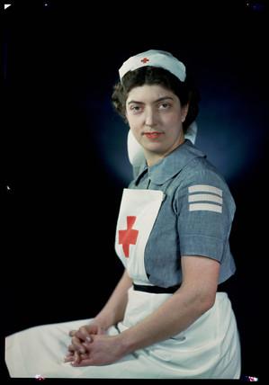 'Mrs Cooke, WVS', c 1943.