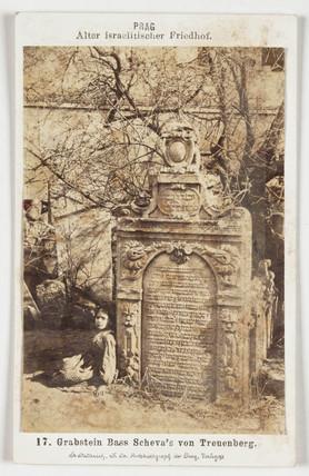 Jewish cemetery, c 1875.