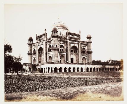 'Delhi - Mausoleum Of Safdarjung', c 1865.