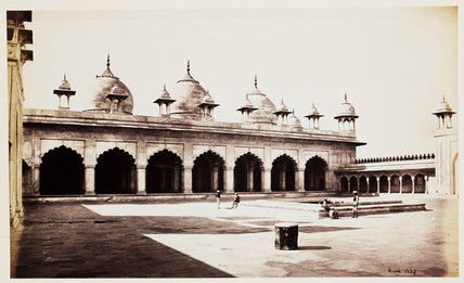 'Quadrangle Of The Motee Musjid', Agra, c 1865.