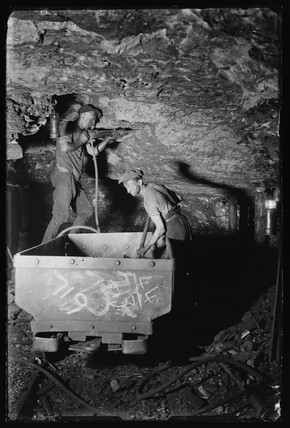 Miners working coal face, Powell Duffryn Colliery, South Wales, June 1931.