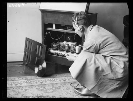 Gramophone repair man, 1932.