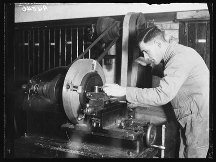 Making a record, 1932.