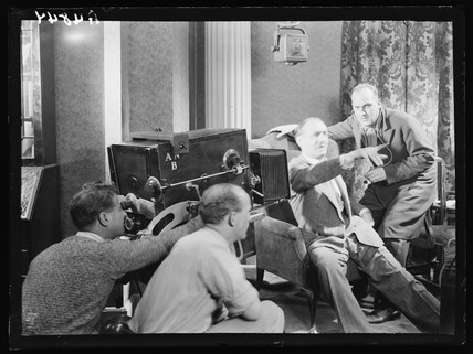 Filming 'C.O.D.', 1932.