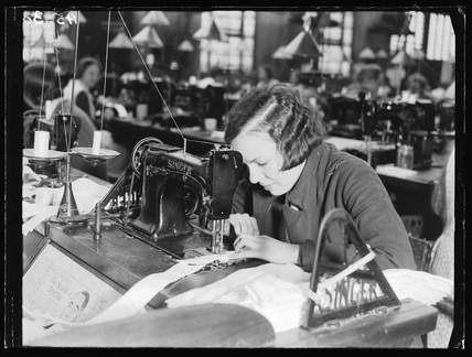 Sewing machinist, 1932.