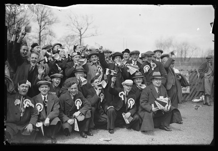 Newcastle football supporters, London, 23 April, 1932.