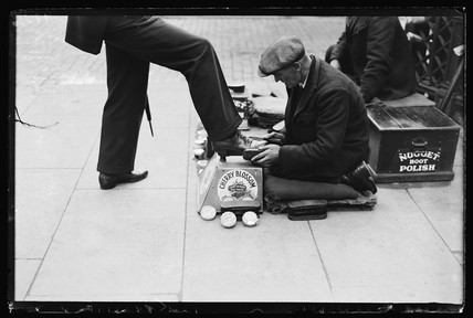 Shoe polishing, 1932.