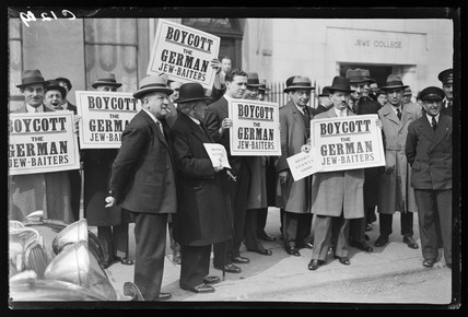 Anti-semitism protest, 1933.