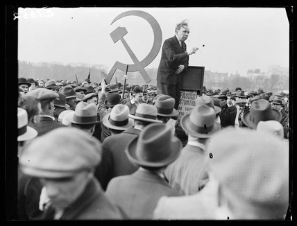 Protest meeting, Hyde Park, London, 1933.