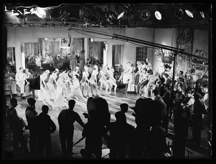 Filming 'I'll Stick to You', 1933.
