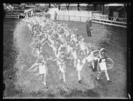 Children rehearsing a show, 1933.