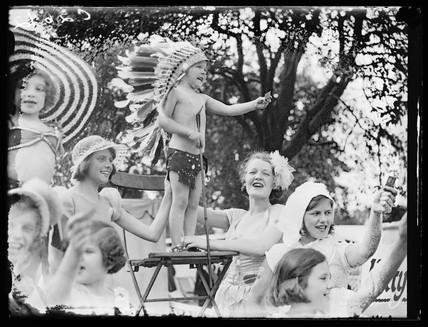 Children's garden party, 1933.