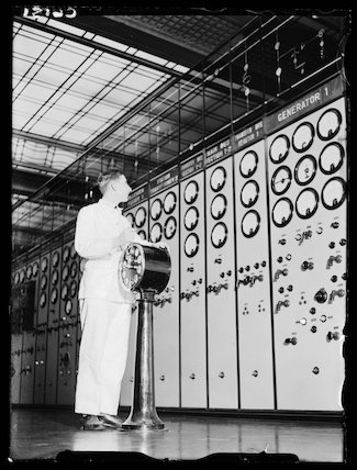 Engineer in Battersea Power Station, London, 17 January 1934.