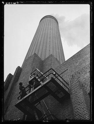 Battersea Power Station chimney, 1934.