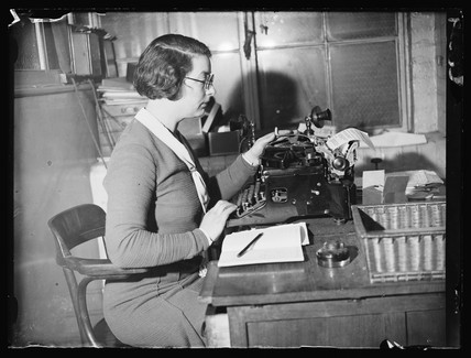 Typist in an office, 4 February 1934.