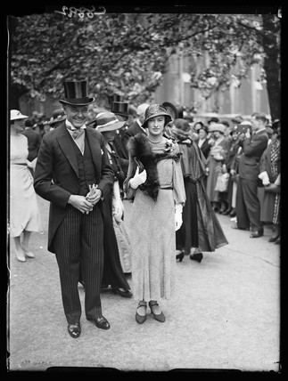 Guests at a wedding, London, 1934.