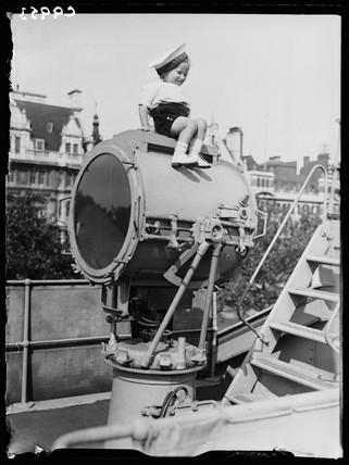 Young 'sailor' enjoys Navy Week, 1934.