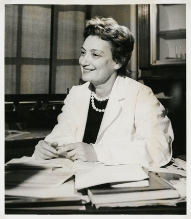 Lady Amalia Fleming, Greek bacteriologist, 1959.