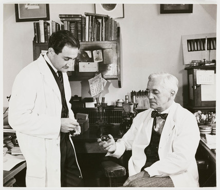 Alexander Fleming, St Mary's Hospital, Paddington, London, 1945.