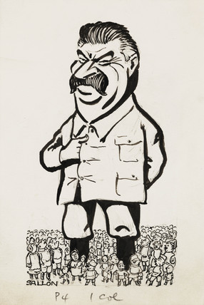 Stalin cartoon, c 1935.