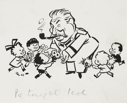 Stalin cartoon, c 1935.