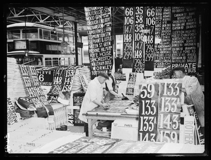 Altering bus route numbers, 1934.