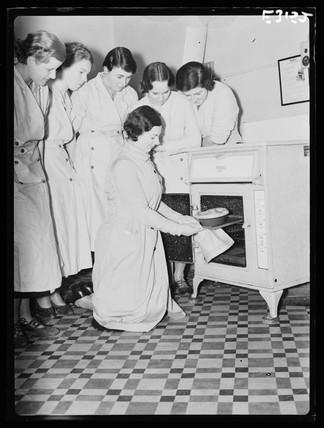 Domestic science class, 1935.
