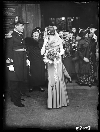 Military wedding, St Martin-in-the-Fields, Trafalgar Square, London, 2 April 1935.