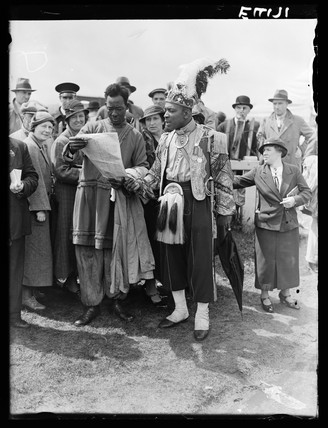 Tipsters at Epsom, Surrey, 5 June, 1935.