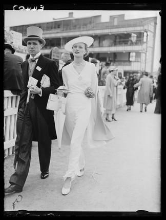 Couple at Royal Ascot, 1935.