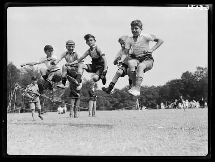 Children playing, 1935.