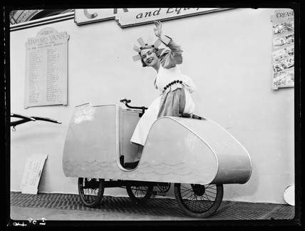 'Ice cream' tricycle, 1936.