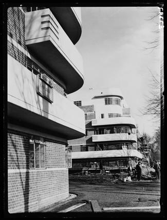 New flats at Clapham, 1936