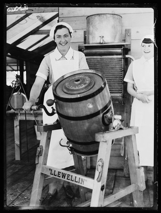 Making butter, 1936.