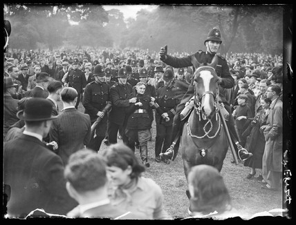 Fascists and communists clash, Victoria Park, London, 1936.