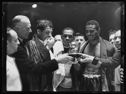 John Lewis, American boxer, 9 November 1936.