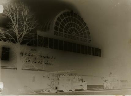 Crystal Palace on fire, 30 November 1936.